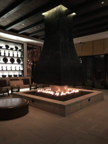 Alila Jabal Akhdar fireplace