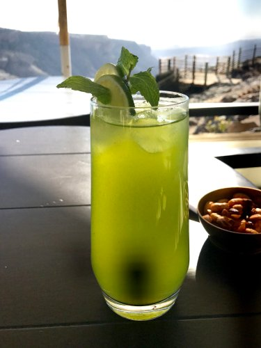 Part of Omani tradition this lime and mint drink awaits you wherever you go. Cool. Refreshing.