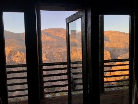 Alila Jabal Akhdar room 55 view
