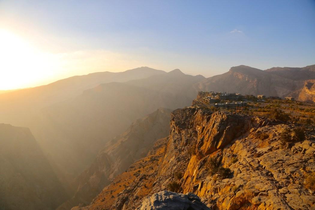 Alila Jabal Akhdar at sunset