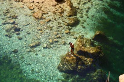 Bimmah sinkhole swimmer