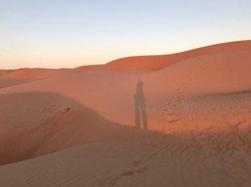 Canvas Club Wahiba Sands Sunset shadow