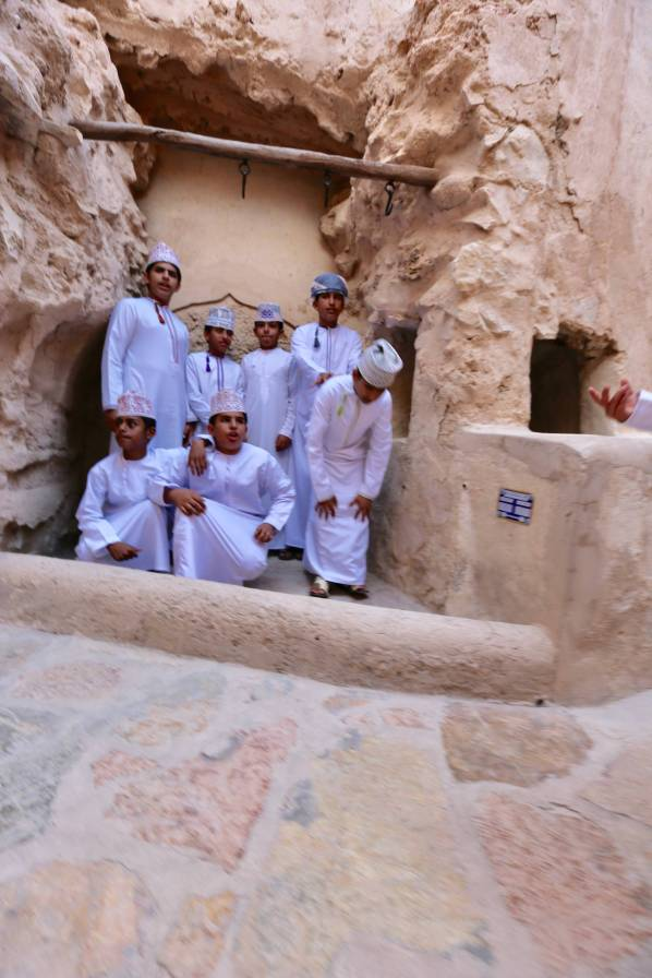 Nizwa Fort kids