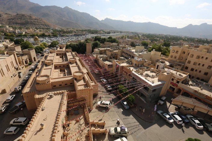 Next to the Goat Market is the Nizwa Souk, which has different markets for everything one needs in the mountainous desert. A bird market. Seafood market. Produce market. Even a guns and knives market.
