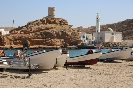 Sur Oman tower and boats