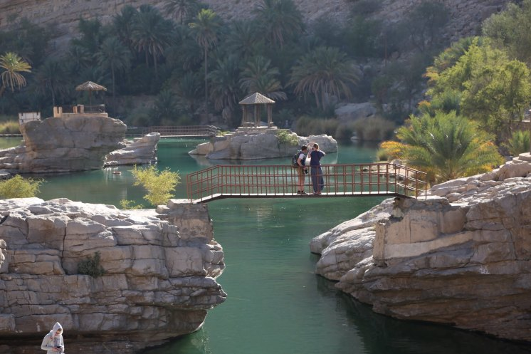 Many of these have well-organized setups to enhance the experience, with toilets, lifeguards, even small cafes rightthere. Wadi Bani Khalid is one of the biggest, and many say the best, wadi to explore, very accessible and the cafe had an awesome chicken biryani!