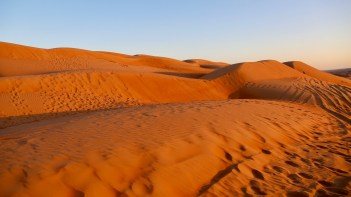 Wahiba Sands copper dunes