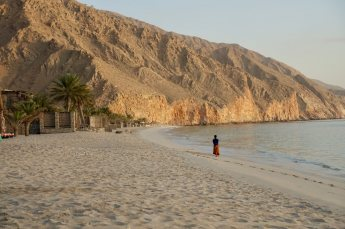 Six Senses Zighy Bay beach walker