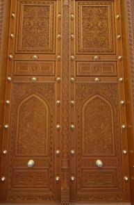 Sultan Qaboos Mosque carved door