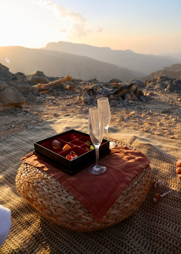 Alcohol is forbidden in public across Oman, but you can imbibe freely on hotel properties. You forget that until you venture outside and enjoy this date champagne.