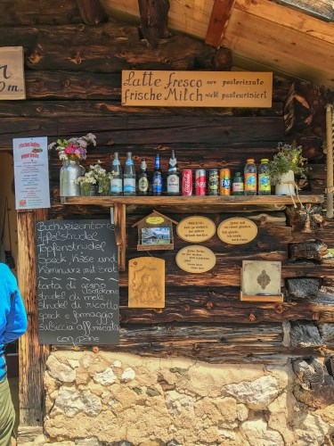 I mean, check out this beer selection... on TOP of a mountain.