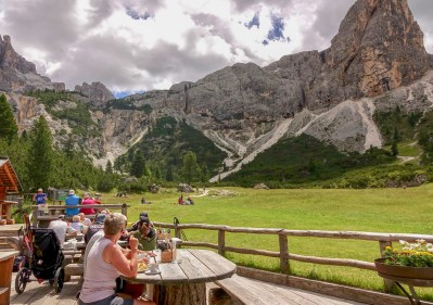 Rifugio Scotoni lunch view