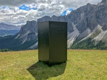 ... just a black shiny box, here in the middle of nowhere.