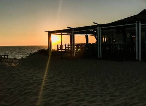 Restaurant Sal Comporta sunset sillouette