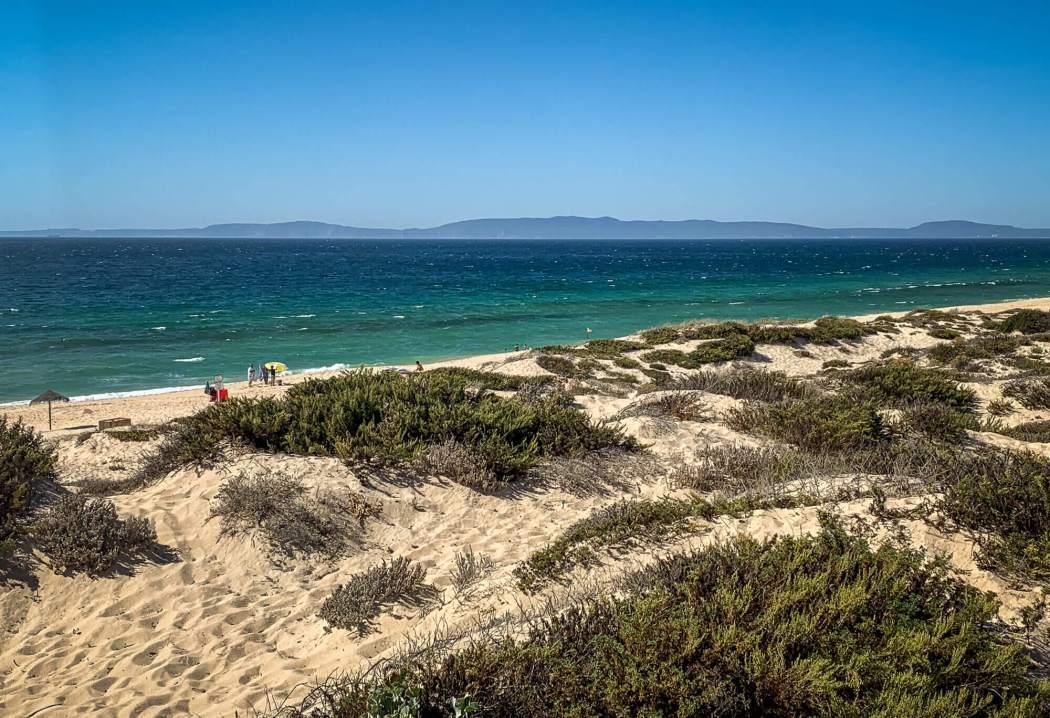 Pego Beach sand dunes