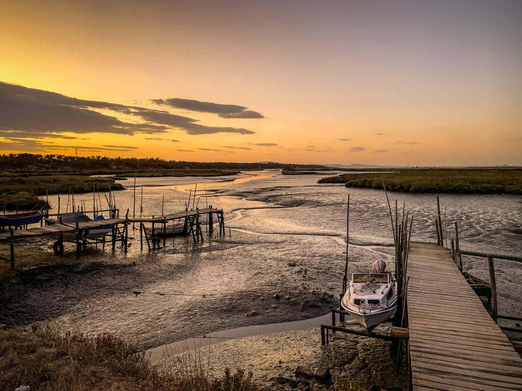 Comporta estuary at sunset