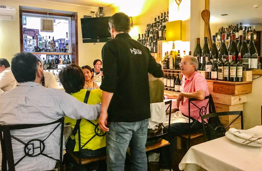 Horta dos Brunos chef at table