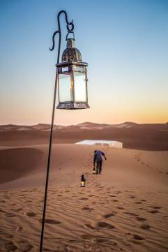 I followed behind Ahmed, in awe of all the lanterns mysteriously appearing int the dusk.