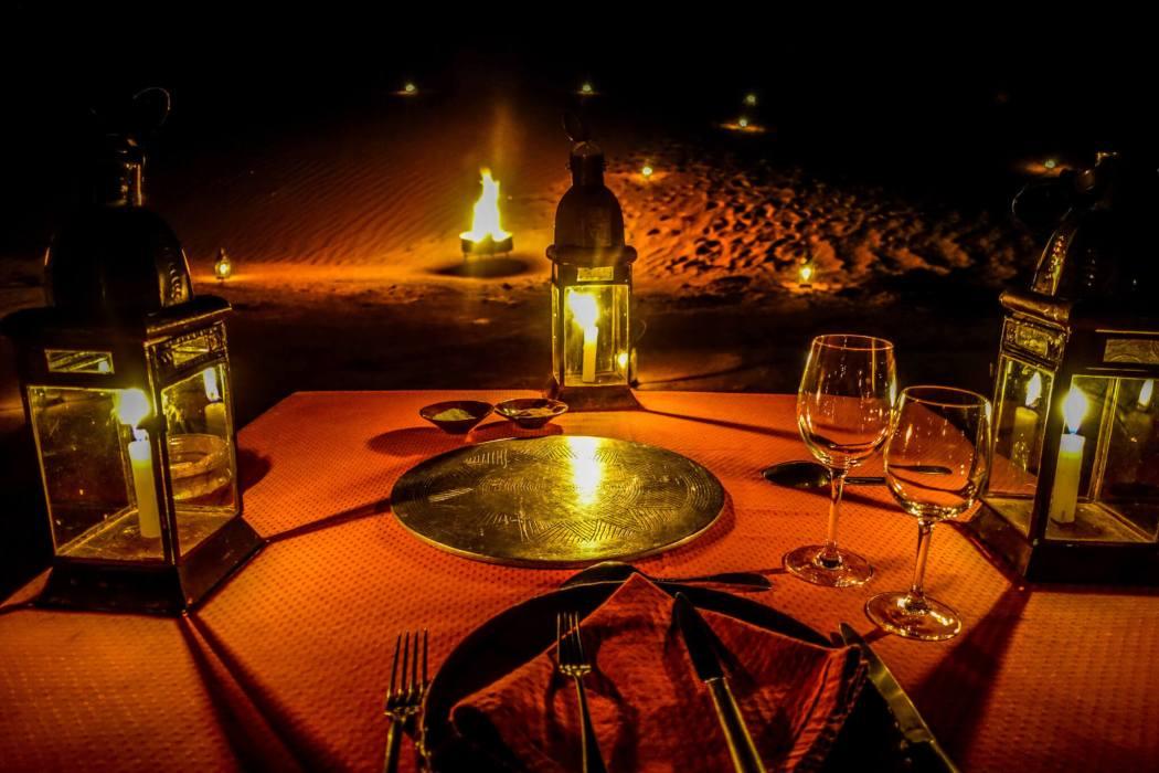 Tagia dinner Dar Ahlam tent camp