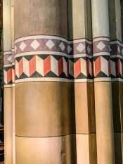 Monforte d'Alba church Column artwork