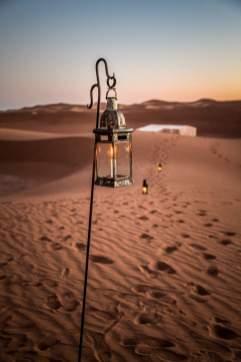 Dar Ahlam tent camp lantern
