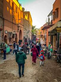 crowded streets Marrakesh souks