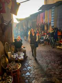 shopping in the souks Marrakesh