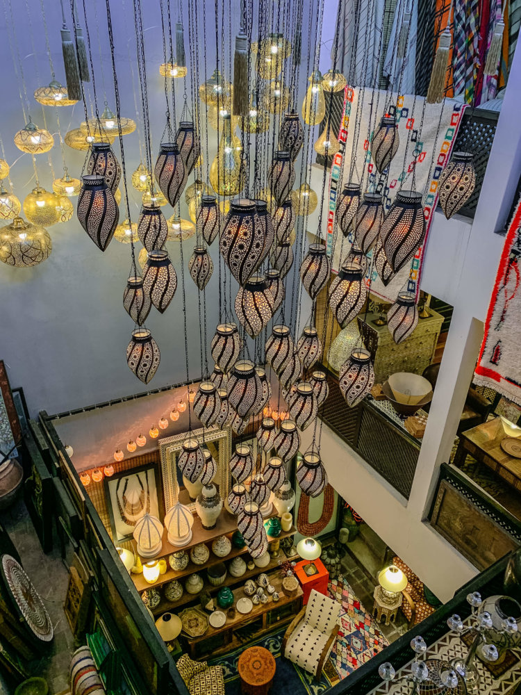 Mustapha Blaoui lamps on display