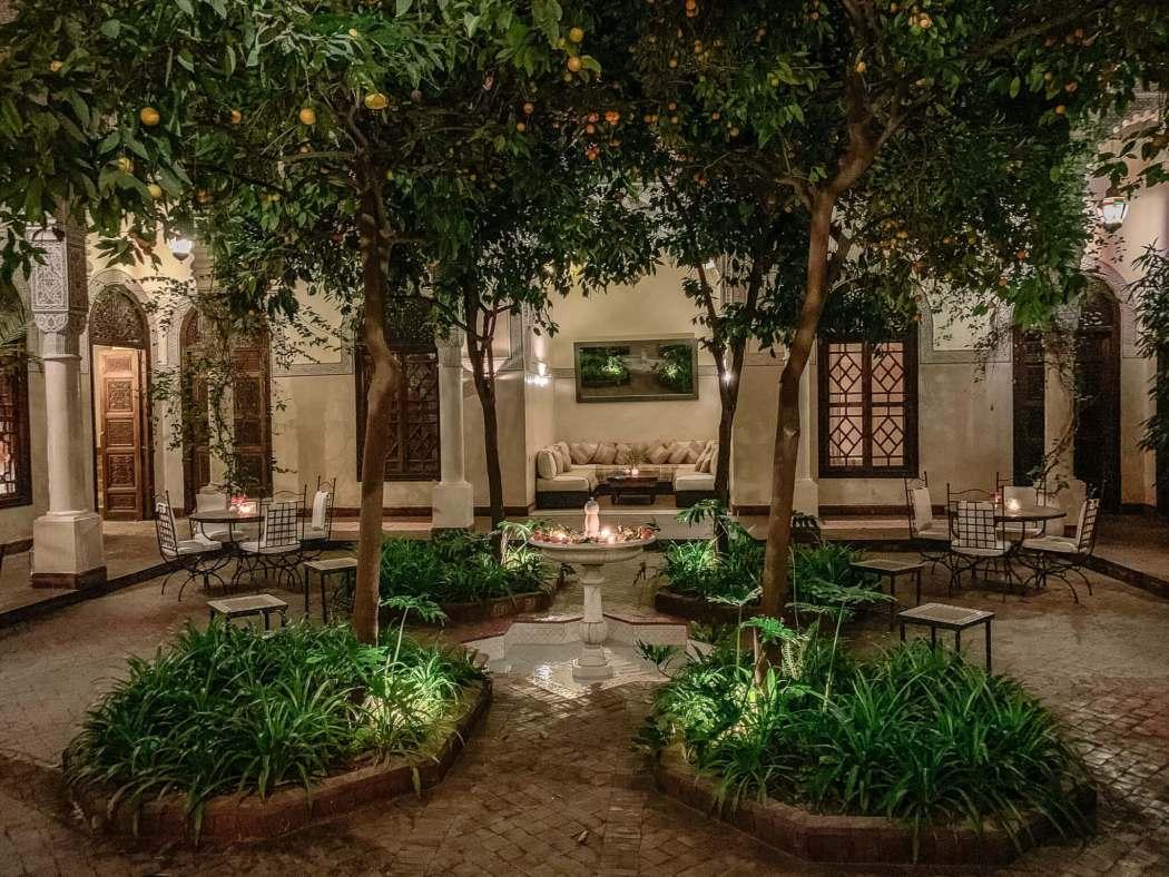 Courtyard at Villa des Orangers