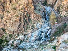 hiking to Setti Fatma Waterfalls level two