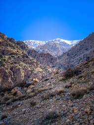 Atlas Mountains from Setti Fatma Waterfalls