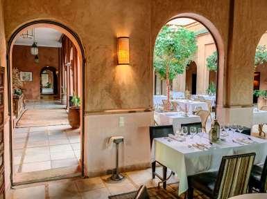 Dining at Kasbah Bab Ourika