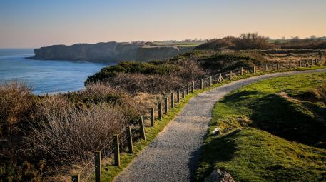 Pointe du Hoc path