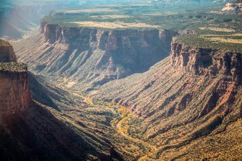 Gateway Canyons helicopter view of canon