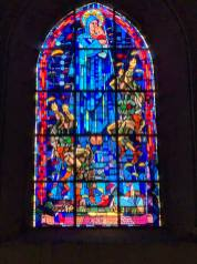 Even though the village people suffered more that the liberating troops, their gratitude is forever. Even the stained glass windows of the main cathedral was changed to thank the airborne troops that saved them.