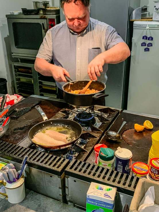 Vincent, a retired chef from Paris, can cook a find multi-course meal if you want.