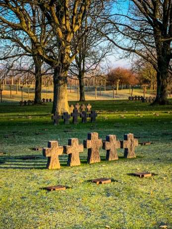 German Cemetery Normandy grave markers