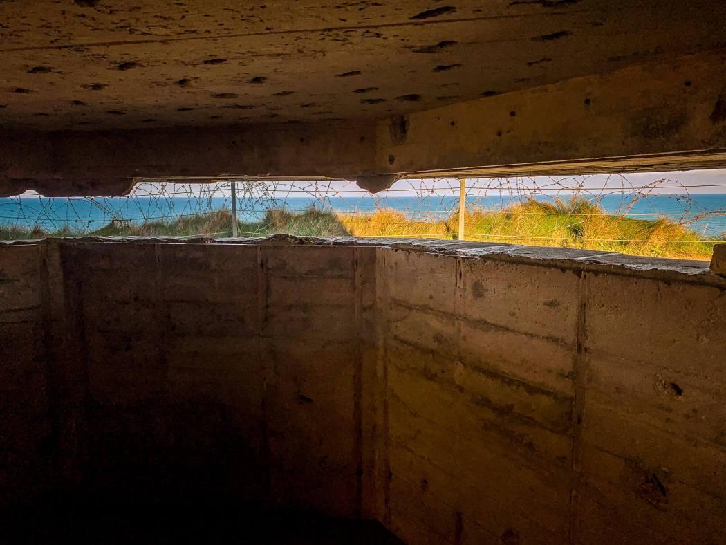Pointe du Hoc bunker view