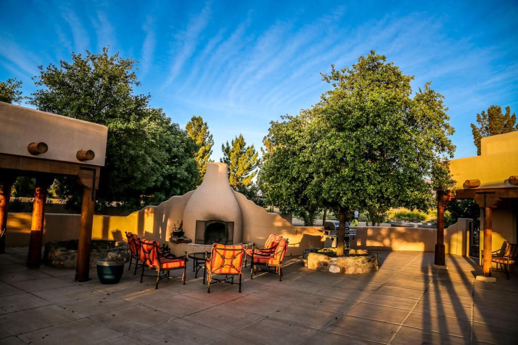 Painted Pony Resort patio sunset
