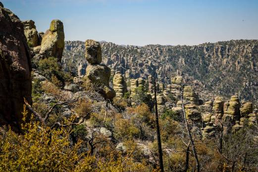 Chiricahua National Monument rock formations