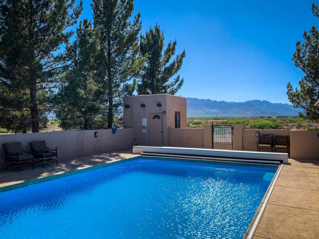 Painted Pony Resort pool with view