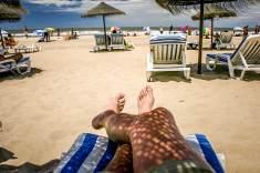 tanning Playa Brava