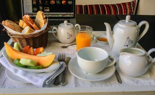 Posada del Faro breakfast