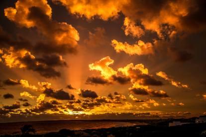 sunset sky Posada del Faro