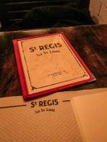 Cafe Saint Regis Paris menu
