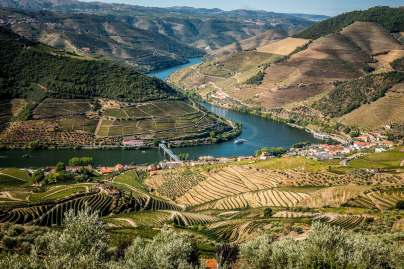 Cruise ship over Douro River