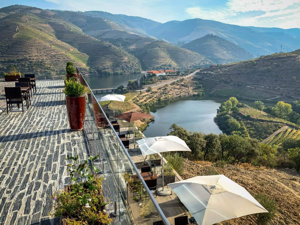 terrace view Vila Gale Douro