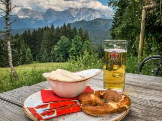 Elmauer Alm food with view