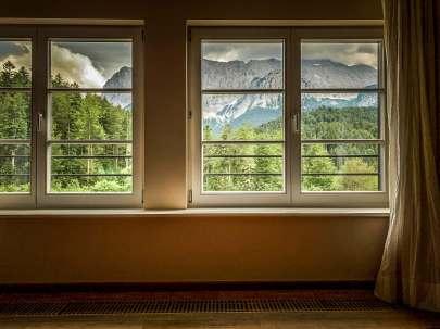 Mountain views from room Schloss Elmau