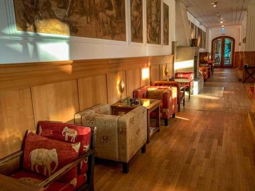 Schloss Elmau bar seating